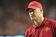 AUSTIN, TX - OCTOBER 18:  Iowa State Cyclones head coach Paul Rhoads looks on against the Texas Longhorns on October 18, 2014 at Darrell K Royal-Texas Memorial Stadium in Austin, Texas.  (Photo by Cooper Neill/Getty Images) *** Local Caption *** Paul Rhoads