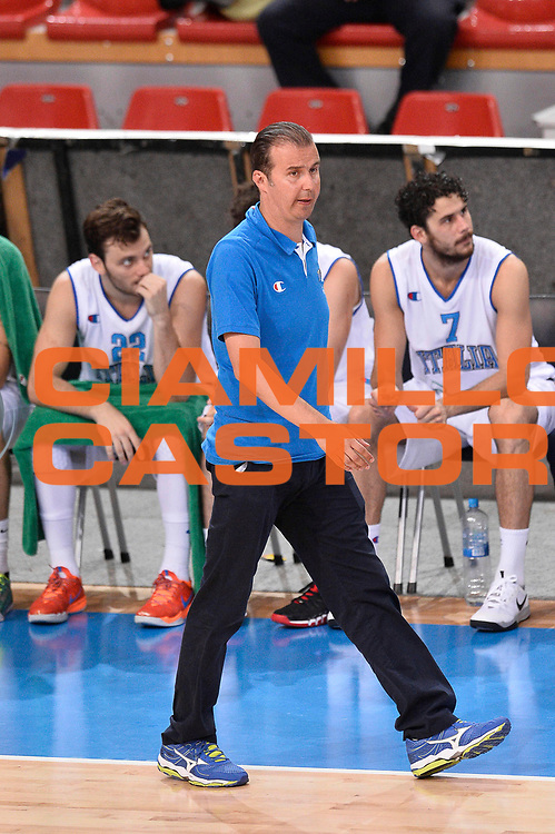 DESCRIZIONE : Skopje Nazionale Italia Uomini Torneo Internazionale di Skopje Italia Montenegro Italy Montenegro<br /> GIOCATORE : Simone Pianigiani<br /> CATEGORIA : Delusione<br /> SQUADRA : Italia Italy<br /> EVENTO : Trofeo Internazionale di Skopje<br /> GARA : Italia Montenegro Italy Montenegro<br /> DATA : 25/07/2014<br /> SPORT : Pallacanestro<br /> AUTORE : Agenzia Ciamillo-Castoria/Max.Ceretti<br /> Galleria : FIP Nazionali 2014<br /> Fotonotizia : Skopje Nazionale Italia Uomini Torneo Internazionale di Skopje Italia Montenegro Italy Montenegro