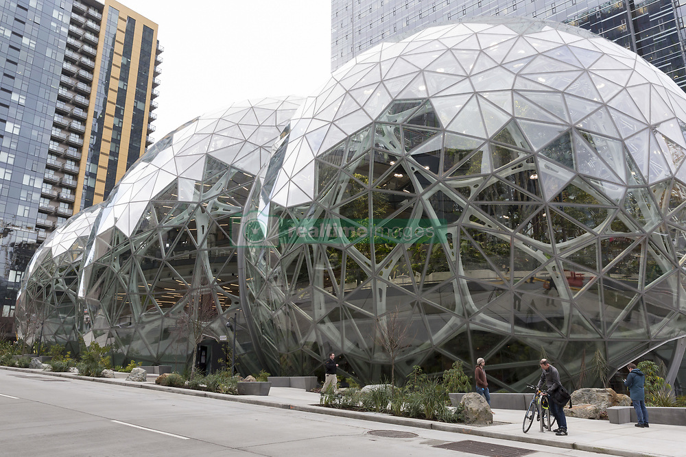 January 30, 2018 - Seattle, Washington, United States - Seattle, Washington: The Spheres Discovery at Understory exhibit at the Amazon Spheres opened to the public on Tuesday. The innovative, geodesic structures at the foot of Amazon's Day 1 building house five stories of office space, retail and a botanical garden. The Understory welcomes visitors with interactive exhibits about the building's flora and design. (Credit Image: © Paul Gordon via ZUMA Wire)