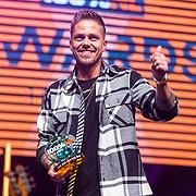 NLD/Amsterdam/20190208- 100% NL Awards  2019, Dre Hazes wint de award voor beste Live act