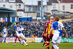 Liam Sercombe of Bristol Rovers shoots - Rogan/JMP - 20/01/2018 - FOOTBALL - Memorial Stadium - Bristol, England - Bristol Rovers v Bradford City - EFL Sky Bet League One.