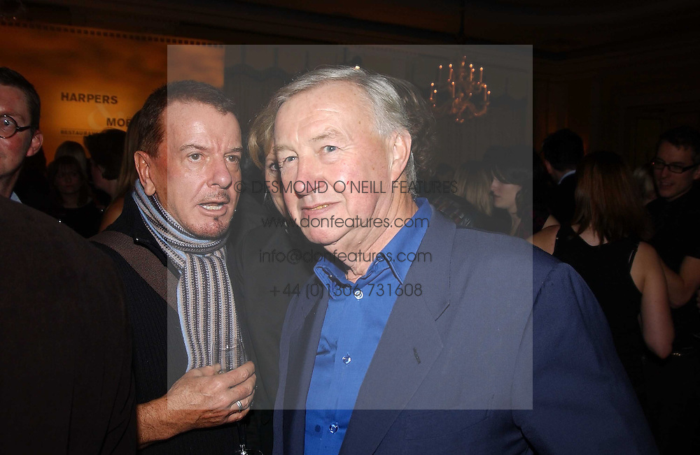 Left to right, NICKY HASLAM and SIR TERENCE CONRAN at the Harpers & Queen and Moet & Chandon Restaurant Awards for 2004 held at Claridges, Brook Street, London on 1st November 2004.<br /><br />NON EXCLUSIVE - WORLD RIGHTS