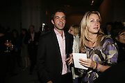 Elliot Macdonald and Georgina Cohen, USA Today. Saatchi Gallery and The Royal academy of Arts. Piccadilly. London. 5 October 2006. -DO NOT ARCHIVE-© Copyright Photograph by Dafydd Jones 66 Stockwell Park Rd. London SW9 0DA Tel 020 7733 0108 www.dafjones.com