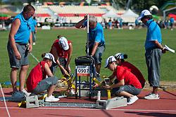 Behind the scenes, KUZNETSOV Alexey, RUS, Javelin, F54/55/56, 2013 IPC Athletics World Championships, Lyon, France