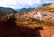 MEXICO, COLONIAL CITIES Real de Catorce; once wealthy now nearly deserted silver mining town in the Sierra, east of Zacatecas (overview)