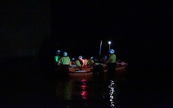 H.M. Coastguards search near the harbour, Port Seton, 19 September 2020; H.M. Coastguards search in the dark, looking for someone who has possibly fallen in the water.<br /> <br /> (c) Chris McCluskie | Edinburgh Elite media