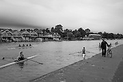 Henley Bucks/Berks UK.   Henley Rowing Club,  Junior Women's Sculling Group, On Henley Reach. Saturday  17/09/2016<br /> [Mandatory Credit; Peter SPURRIER/Intersport Images]