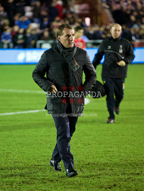 KINGSTON-UPON-THAMES, ENGLAND - Monday, January 5, 2015: Liverpool's manager Brendan Rodgers before the FA Cup 3rd Round match against AFC Wimbledon at the Kingsmeadow Stadium. (Pic by David Rawcliffe/Propaganda)