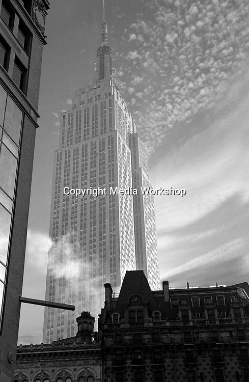 Empire State Building, Manhattan, view from northwest.