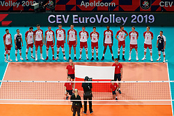 23-09-2019 NED: EC Volleyball 2019 Poland - Germany, Apeldoorn<br /> 1/4 final EC Volleyball - Poland win 3-0 / Line up Poland