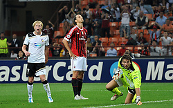 28.09.2011, Stadion Giuseppe Meazza, Mailand, ITA, UEFA CL, Gruppe H, ITA, UEFA CL, AC Mailand (ITA) vs FC Viktoria Pilsen (CZE), im Bild Zlatan IBRAHIMOVIC Milan.. // during the UEFA Champions League game, group H, AC Mailand (ITA) vs FC Viktoria Pilsen (CZE) at Giuseppe Meazza stadium in Mailand, Italy on 2011/09/28. EXPA Pictures © 2011, PhotoCredit: EXPA/ InsideFoto/ Alessandro Sabattini +++++ ATTENTION - FOR AUSTRIA/(AUT), SLOVENIA/(SLO), SERBIA/(SRB), CROATIA/(CRO), SWISS/(SUI) and SWEDEN/(SWE) CLIENT ONLY +++++