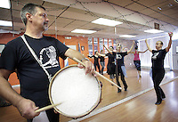 (CH) FL-el-argentinean-tango-CHl --Oscar Caballero, The Tango Times Dance Company's dance company director, is dancing during the practice of The Argentine Folk and Tango Show, at their studio in North Miami Beach on June 30, 2012. Saff photo/Cristobal Herrera Sun-Sentinel