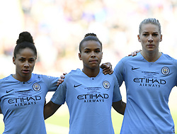 February 23, 2019 - Sheffield, England, United Kingdom - Tense moments for manchester City players during the  FA Women's Continental League Cup Final  between Arsenal and Manchester City Women at the Bramall Lane Football Ground, Sheffield United FC Sheffield, Saturday 23rd February. (Credit Image: © Action Foto Sport/NurPhoto via ZUMA Press)