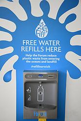 Free water refill dispenser, The Forum, Norwich UK