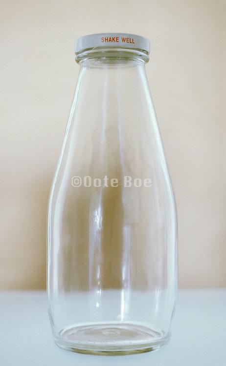 still life of glass bottle