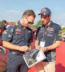 02.07.2016, Red Bull Ring, Spielberg, AUT, FIA, Formel 1, Roter Teppich, im Bild Motorsportchef Christian Horner (GRB) Red Bull Racing // Red Bull Racing Team Principal Christian Horner (GBR) during the red carpet of at the Red Bull Ring in Spielberg, Austria, 2016/07/02, EXPA Pictures © 2016, PhotoCredit: EXPA/ Dominik Angerer