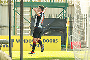 GOAL! Danny Mullen of St Mirren celebrates in front of the home fans after scoring the equaliser during the Ladbrokes Scottish Premiership match between St Mirren and Dundee at the Paisley 2021 Stadium, St Mirren, Scotland on 30 March 2019.