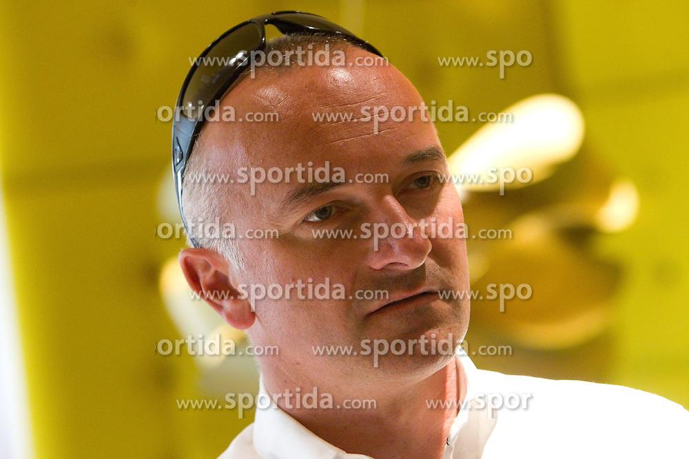 Bogdan Fink of KK Adria Mobil at press conference before cycling race Tour de France 2011, on June 27, 2011, in Restavracija in Kavarna Element, Crnuce, Ljubljana, Slovenia. (Photo by Vid Ponikvar / Sportida)