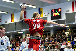 05.01.2018, BSZF Suedstadt, Maria Enzersdorf, AUT, Handball Testspiel, Österreich vs Tschechien, im Bild Robert Weber (AUT) // during a men' s international friendly handball match between Austria and Czech Republic at the BSZF Suedstadt, Maria Enzersdorf, Austria on 2018/01/05, EXPA Pictures © 2017, PhotoCredit: EXPA/ Sebastian Pucher