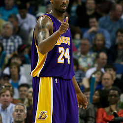 March 23, 2007: Los Angeles Lakers Kobe Bryant (24) on the court during a NBA game the New Orleans Hornets and the Los Angeles Lakers at the New Orleans Arena in New Orleans, Louisiana.