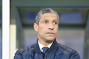Brighton Manager, Chris Hughton  during the Sky Bet Championship match between Birmingham City and Brighton and Hove Albion at St Andrews, Birmingham, England on 5 April 2016. Photo by Simon Davies.