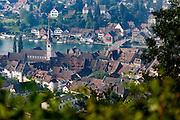 Blick auf Stein am Rhein, Bodensee, Schweiz