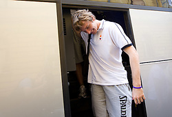 Zoran Dragic at arrival of Slovenian basketball team from a friendly tournament in Spain, on August 9, 2010 at City Hotel, Ljubljana, Slovenia. (Photo by Vid Ponikvar / Sportida)