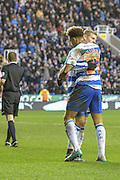 Reading FC midfielder Danny Williams and Reading FC striker Matej Vydra celebrate their goals during the The FA Cup fourth round match between Reading and Walsall at the Madejski Stadium, Reading, England on 30 January 2016. Photo by Mark Davies.