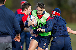 England U20 Full Back Darren Atkins (Bath Rugby)  in action during a session at Bristol Rugby's training facility ahead of the U20 Six Nations match versus Wales - Mandatory byline: Rogan Thomson/JMP - 08/03/2016 - RUGBY UNION - Clifton Rugby Club - Bristol, England - England Under 20s Training at Bristol Rugby.
