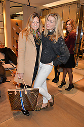 Left to right, SERENA HOOD and PIPPA VOSPER at a Valentine's Ladies breakfast hosted by Tod's and Carolina Bonfiglio at the Tod's boutique in New Bond Street, London on 10th February 2015.