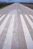 Stripes on Airport Runway