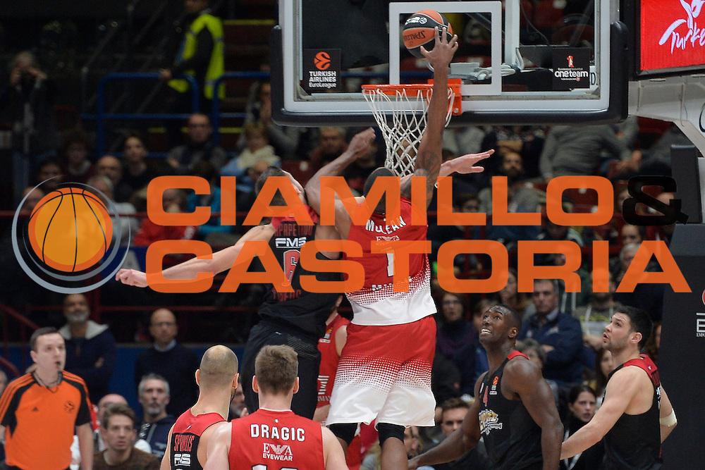 McLean Jamel<br /> EA7 Emporio Armani Olimpia Milano - Olympiacos Piraeus<br /> Euroleague 2016/2017<br /> Milano 25/01/2017<br /> Foto Ciamillo-Castoria