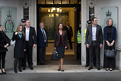 © Licensed to London News Pictures. 08/12/2016. London, UK. GINA MILLER (C) arrives at the Supreme Court in Westminster, London for the last day of a hearing to appeal against a November 3 High Court ruling that Article 50 cannot be triggered without a vote in Parliament. Photo credit: Peter Macdiarmid/LNP