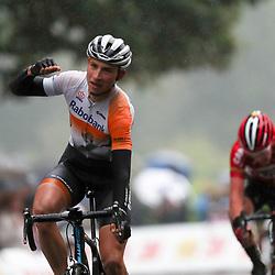 02-10-2016: Wielrennen: Olympia Tour: Margraten <br />NOORDBEEK (NED) wielrennen  <br />Martijn Budding wint de slotetappe van de 64e Olympia's Tour. Hij zal de boeken in gaan als de laatste renner die voor het Rabobank Development Team een wegwedstrijd op Nederlandse bodem weet te winnen.