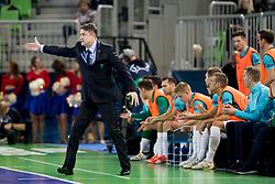 Andrej Dobovicnik, head coach of Slovenia during futsal quarterfinal match between National teams of Slovenia and Russia at Day 7 of UEFA Futsal EURO 2018, on February 5, 2018 in Arena Stozice, Ljubljana, Slovenia. Photo by Urban Urbanc / Sportida