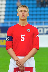 KIEV, UKRAINE - Tuesday, June 5, 2001: Wales' under 21 captain Rhys Day lines-up before the Under-21 World Cup Qualifying match against Ukraine at the Dynamo Stadium. (Pic by David Rawcliffe/Propaganda)