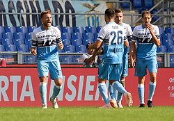 October 7, 2018 - Rome, Italy - Ciro Immobile celebrates after scoring goal 1-0 during the Italian Serie A football match between S.S. Lazio and Fiorentina at the Olympic Stadium in Rome, on october 07, 2018. (Credit Image: © Silvia Lore/NurPhoto/ZUMA Press)