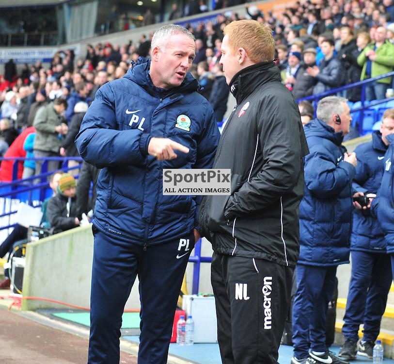 Paul Lambert gives ex-Celtic team mate a pointer before the Bolton vs Blackburn game......(c) BILLY WHITE | SportPix.org.uk