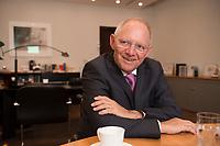 17 DEC 2014, BERLIN/GERMANY:<br /> Wolfgang Schaeuble, CDU, Bundesfinanzminister, waehrend einem Interview, in seinem Buero, Bundesministerium der Finanzen<br /> IMAGE: 20141217-01-015<br /> KEYWORDS: Wolfgang Schäuble