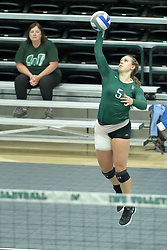 23 September 2017:  Tyler Brown during an NCAA womens division 3 Volleyball match between the Tufts Jumbos and the Illinois Wesleyan Titans in Shirk Center, Bloomington IL