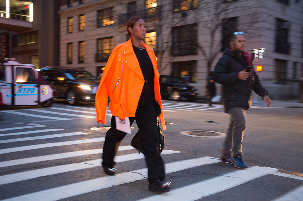 Orange Jacket, Outside Marc Jacobs FW2018
