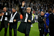 Claudio Ranieri thanking the fans after the Premier League match between Leicester City and Burnley at the King Power Stadium, Leicester, England on 10 November 2018.