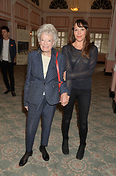 Left to right, EVE BRANSON and AMY GARDNER at the Oldie Magazine's Oldie of The Year Awards held at Simpson's In The Strand, London on 4th February 2014.