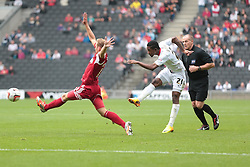 Milton Keynes Dons' Jason Banton tries a shott  - Photo mandatory by-line: Nigel Pitts-Drake/JMP - Tel: Mobile: 07966 386802 24/08/2013 - SPORT - FOOTBALL - Stadium MK - Milton Keynes - Milton Keynes Dons V Bristol City - Sky Bet League One