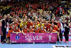 20-12-2015 DEN: World Championships Handball 2015 Nederland - Noorwegen, Herning<br /> Finale WK Handbal / Nederland verliest kansloos de finale van Noorwegen en moet genoegen nemen met zilver