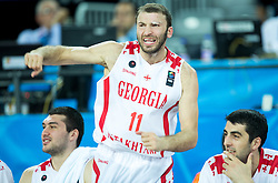 Manuchar Markoishvili of Georgia and Giorgi Shermadini of Georgia during basketball match between Georgia and Netherlands at Day 1 in Group C of FIBA Europe Eurobasket 2015, on September 5, 2015, in Arena Zagreb, Croatia. Photo by Vid Ponikvar / Sportida