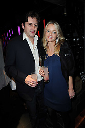 JAMES & CORINNA OSBORNE at the Tatler Little Black Book Party held at Chinawhite, 4 Winsley Street, London on 20th November 2009.