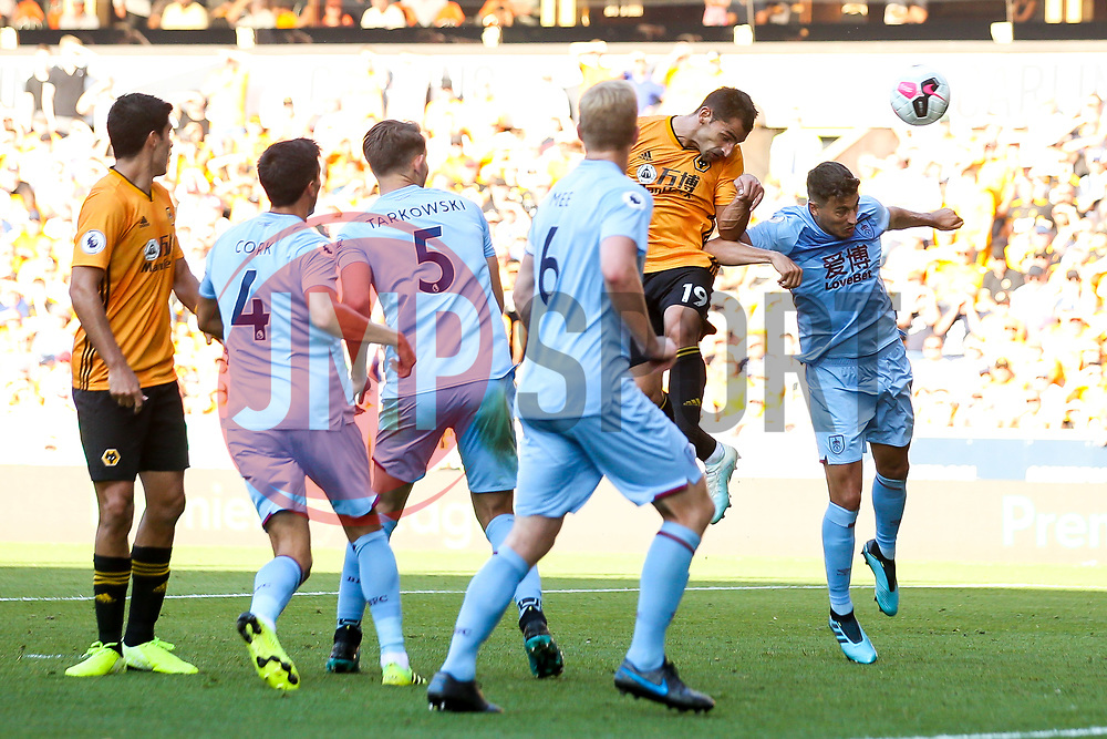 Jonny of Wolverhampton Wanderers heads the ball at goal - Mandatory by-line: Robbie Stephenson/JMP - 25/08/2019 - FOOTBALL - Molineux - Wolverhampton, England - Wolverhampton Wanderers v Burnley - Premier League