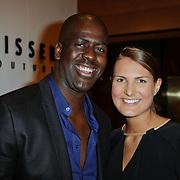NLD/Amsterdam/20120310 - Modeshow Mart Visser 2012, iris van den Ende en partner