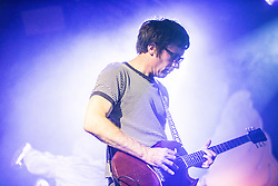 Graham Coxon of Blur, on stage at Barrowland, Glasgow.